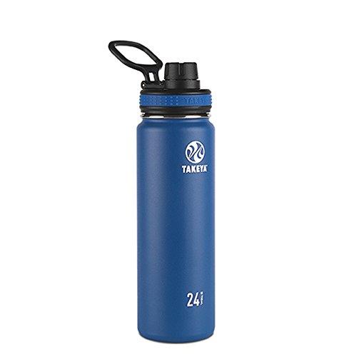 Takeya Originals Vacuum-Insulated Stainless-Steel Water Bottle, 24oz, Navy - Ounce Bottle Sport 24