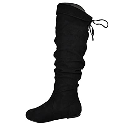 Bamboo Rebeca-65 Women's Knee High Drawstring Cupped Totes Boots