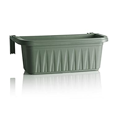 Apollo Exports International AP-30218LG 24  Adjustable Railing Planter, Light Green