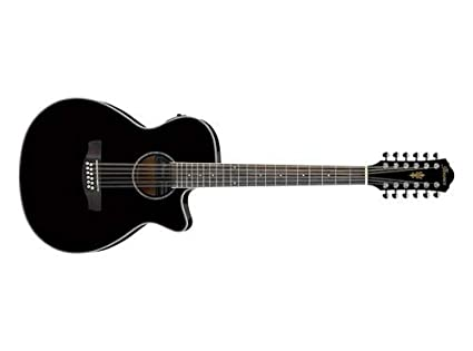 99dab75d561e Ibanez 12 cuerdas guitarra eléctrica y acústica aeg1812ii BK Negro Acabado