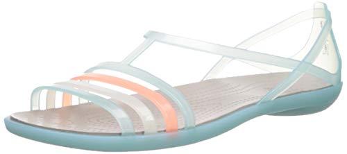 Crocs Women's Isabella Sandal Slide, ice Blue/Platinum, 7 M US ()