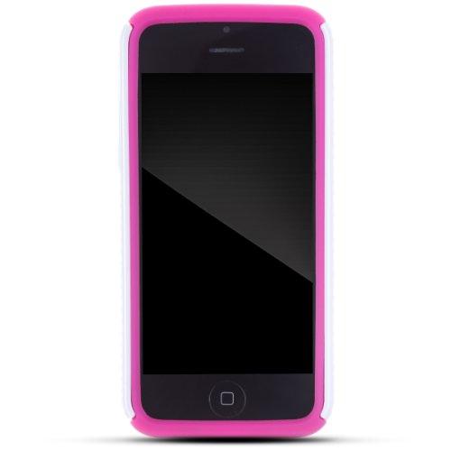 Zooky® rosa niedlich Kunststoff ZEBRA Schutzhülle / Hülle / Cover für Apple iPhone 5C
