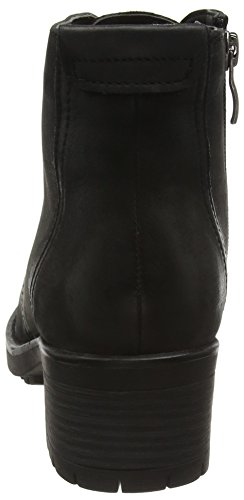 Caprice 26257, Botines para Mujer Negro (BLACK NUBUC 008)