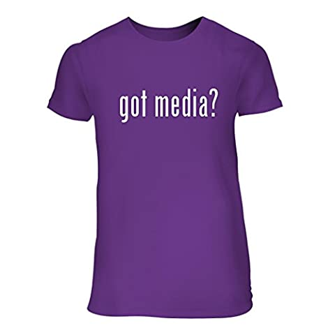 got media? - A Nice Junior Cut Women's Short Sleeve T-Shirt, Purple, Small (Roku Purple)