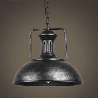 Silver Dome Pendant Light in US - 8