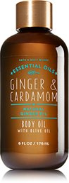 Bath and Body Works Essential Oils Body Oil Ginger and Cardamom 6 Fluid Ounce (Ginger Essential Fragrance Oil)