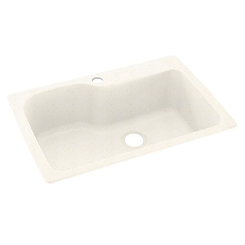 Swanstone KS03322SB.168 Solid Surface 1-Hole Drop in Double-