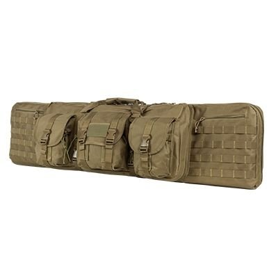 VISM by NcStar CVDC2946T-46 Deluxe Double Rifle Case, Tan, 46