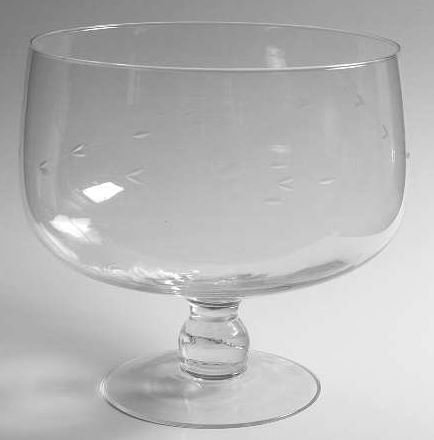 (6636A- Princess House Crystal Punch Bowl)