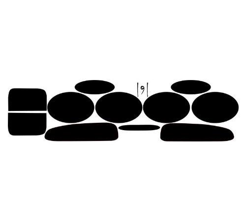 - Subject 9 - Fits: Corvette Pre-cut vinyl overlay Taillight PLUS tint (1997 1998 1999 2000 2001 2002 2003 2004) DARK