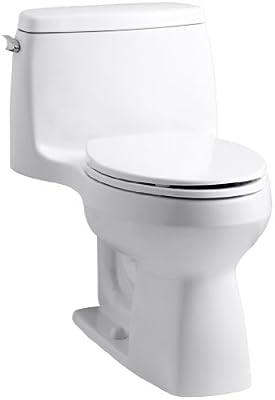 Kohler 3811-0 Santa Rosa Comfort Height Elongated 1.6 GPF Toilet with AquaPiston Flush Technology and Left-Hand Trip Lever, White