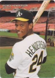 (Rickey Henderson 1990 Mothers Cookies Baseball #4 (Regional item, Very Limited) (Oakland) (New York) (Toronto))