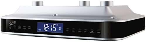 iLive iKB333S Under Cabinet Radio with Bluetooth Speakers (Silver)