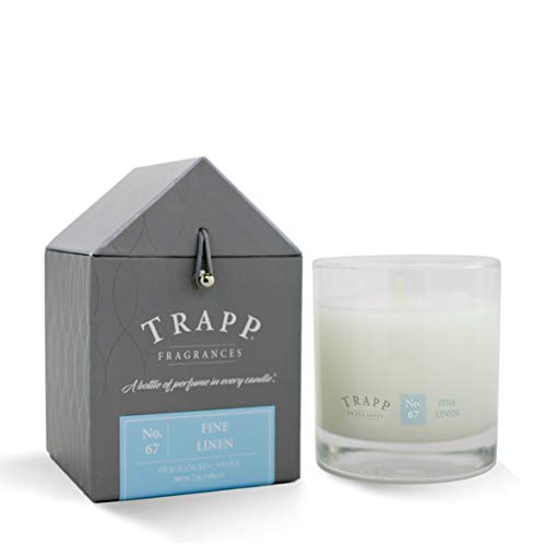 Trapp Signature Home Collection No. 67 Fine Linen Poured Scented Candle, 7-Ounce