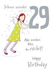 Schutzengel Geburtstagskarte schon wieder 29: Amazon.de
