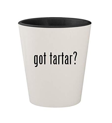 got tartar? - Ceramic White Outer & Black Inner 1.5oz Shot Glass