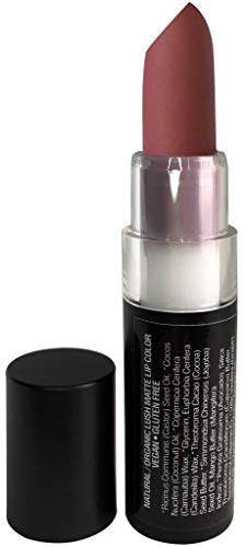 Mom's Secret Natural Matte Lipstick, Organic, Long Lasting, Vegan, Gluten Free, Cruelty Free, Made in the USA, 0.15 oz. (Blushing Bride)