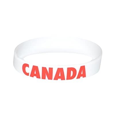 Komonee Canada White Olympics Silicone Wristbands Pack Estimated Price £3.25 -