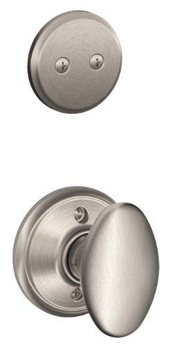 Schlage F94-SIE Siena Knob Dummy Interior Pack from The F-Series, Satin Nickel