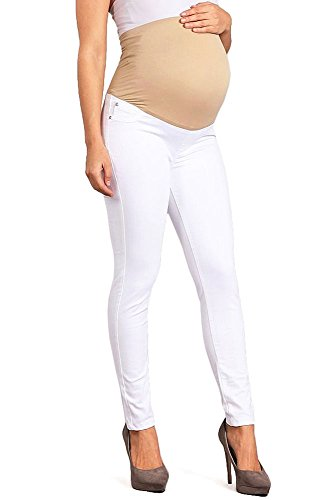 e88f49bebcbf9 Galleon - Celebrity Pink Women's Ankle Length Maternity Jegging Skinnys  (XL, White)