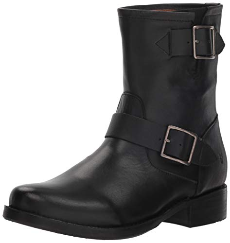 FRYE Women's Vicky Engineer Boot, Black, 9.5 M - Engineer Inch Boot 11