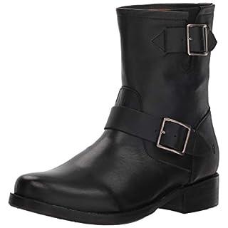 Frye Women's Vicky Engineer Boot, Black, 6.5 M US