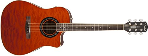 Fender T-Bucket 300CE Cutaway Acoustic-Electric Guitar, Quilted Maple Top, Mahogany Back and Sides, Fishman Preamp - Amber