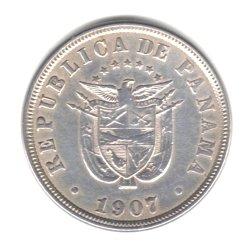 1907 Panama 2 1/2 Centesimos Coin KM#7.1