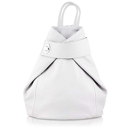 Stella Italian Purse LaGaksta Shoulder Bag Backpack Leather White and Hg66qwa