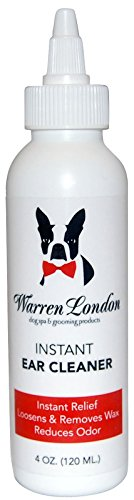 (Warren London - Instant Ear Cleaner - 4oz - Soothing Wax Remover which Cleans to Prevent Itching, Head Shaking, Infections, Discharge and Odor in Dogs and Cats)