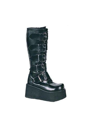 Demonia by Pleaser Men's Trashville-518 Goth Boot,Black PU,8 M US -