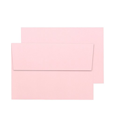 A7 Pink Invitation 5x7 Envelopes - Self Seal, Square Flap,Perfect for Baby Shower, 5x7 Cards, Weddings, Birthday, Invitations, Graduation, 5.25 x 7.25 inches, 100 Pack, (Pink) Photo #5