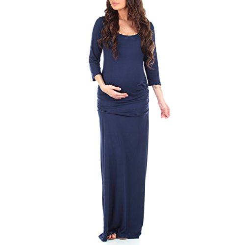 Women's Ruched Bodycon Maternity Dress with by Mother Bee in Regular and Plus Sizes – Made in USA