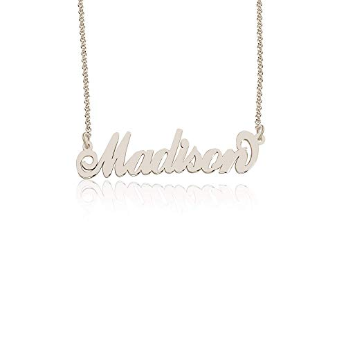 Personalized Madison Name Necklace, Custom made in stock, St