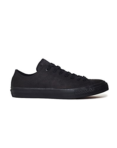 Converse Mens Chuck Taylor II Low Lux Leather Trainers negro