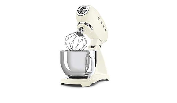 Smeg Robot De Cocina SMF03CREU Crema 10 Velocidades, Acero Inoxidable: Amazon.es: Hogar