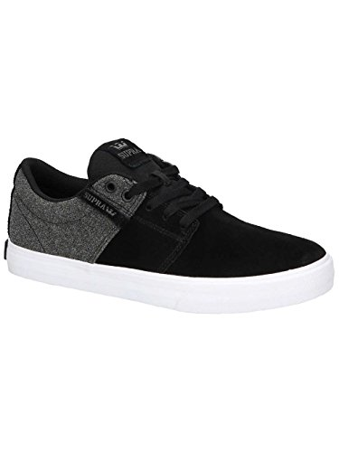 Supra Men's Stacks Vulc II Black/White/Black Athletic Shoe
