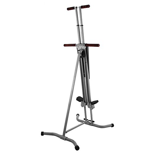 Happybuy Vertical Climber Exercise Machine 440LBS LCD Folding Climber Machine Fitness Stepper Climbing Machine Vertical Climber for Home Gym Exercise Cardio Workout Climbing Stair (P8008 Platic) by Happybuy (Image #2)