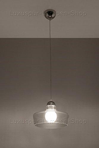 Lampadario Sospensione Vetro Trasparente.Moderno Trasparente Lampada A Sospensione Febo Ovale Lampada A