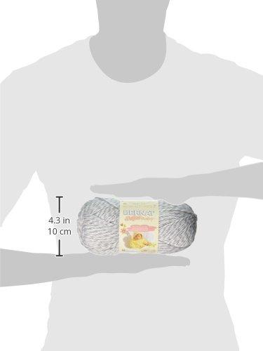 Bernat Softee Baby Yarn, 5 oz, Gauge 3 Light, Grey Marl
