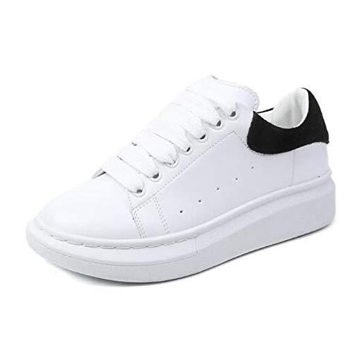 Sneakers Cerrado Comfort Zapatos Punta Creepers de Mujer Verano ZHZNVX de Negra imitación PU Cuero de Rosa Primavera Poliuretano Pink de 7fq6PnA