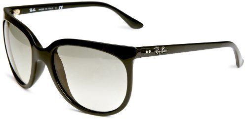 Ray-Ban RB4126 Cats 1000 Cat Eye Sunglasses, Black/Grey Gradient, 57 ()