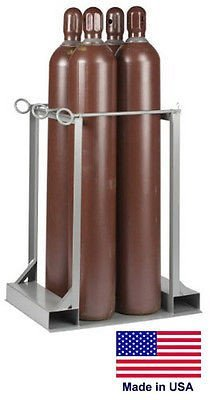 Streamline Industrial CYLINDER STAND PALLET for LP Propane Welding Gases Compressed Air - 4 Tank Cap