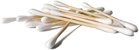 Paquete de 100 capullos de algodón de bambú, doble punta de ...
