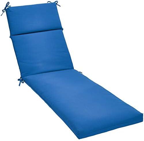 AmazonBasics Outdoor Lounger Patio Cushion – Blue