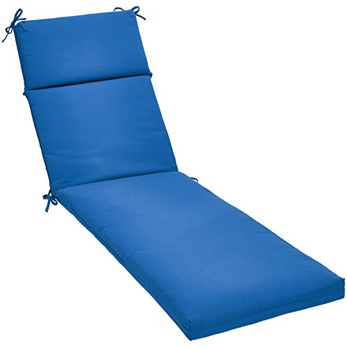 AmazonBasics Outdoor Lounger Patio Cushion - Blue