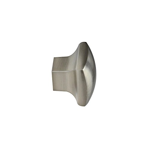 #2844 CKP Brand 1-3/16 in. (30mm) Rounded Square Knob, Brushed Nickel - 10 Pack by CKP (Image #2)