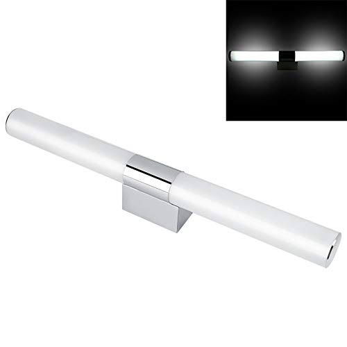 12/16/22W Bathroom Front Mirror Light Modern Cabinet LED Toilet Wall Lamp Vanity Fixture Make-up Lighting, Stainless Steel + Acrylic (White Light-55cm22w) ()