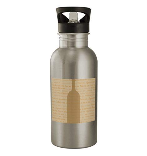 White Wine #101 - Funny Humor 20oz Silver Water Bottle