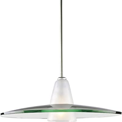 Progress Lighting P5012-09 Contemporary Stem-Hung Pendant, Brushed Nickel